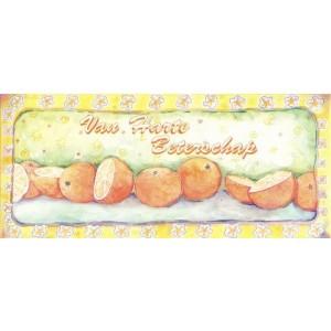 kunstige wenskaart vn harte beterschap met sinaasappels