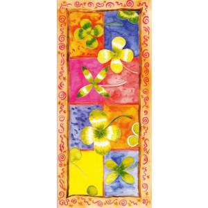 wenskaart kunst geschilderde bloemen