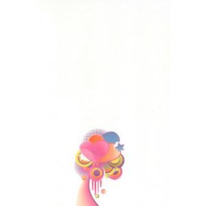 wenskaart met kleurrijke hartjes