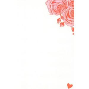valentijnskaart met rode rozen