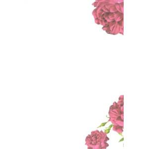 valentijnskaart met rode bloemen