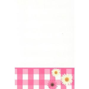 valentijnskaart wit met roze bloemen