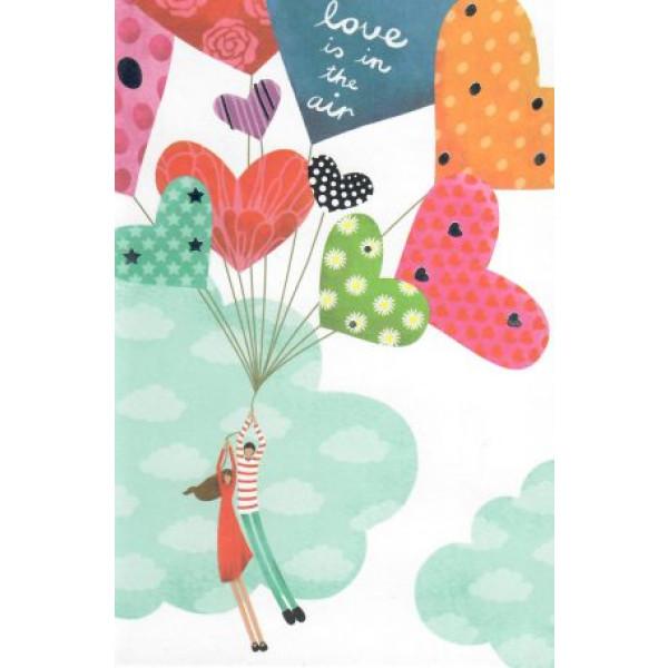 valentijnskaart getekend love is in the air