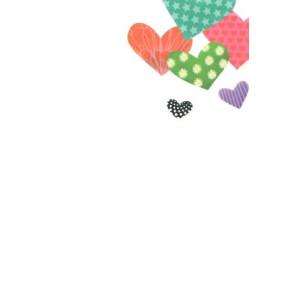 valentijnskaart met gekleurde hartjes