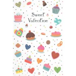 valentijnskaart sweet valentine met gebakjes