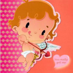 valentijnskaart met engeltje you really got me