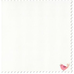 valentijnskaart gekarteld met vogeltje