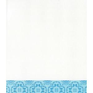 wenskaart wit met blauwe rand