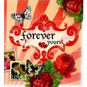 valentijnskaart forever yours met rode rozen