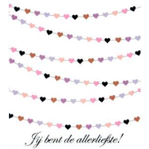 valentijnskaart jij bent de allerliefste met hartjes