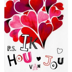 valentijnskaart p.s. ik hou van jou