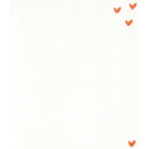 witte wenskaart met rode hartjes voor valentijn