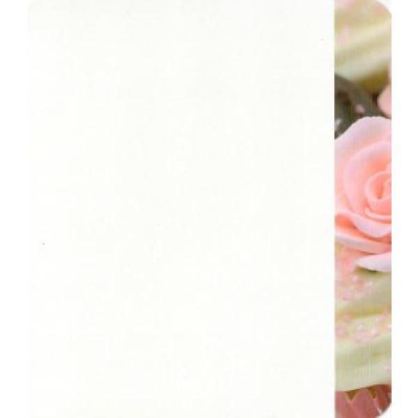 wenskaart met roosjes en cupcakes