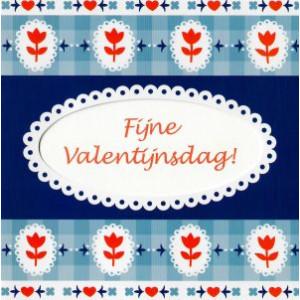 Wenskaart fijne valentijnsdag motief