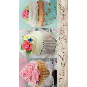 goedkope wenskaarten van harte gefeliciteerd met cupcakes