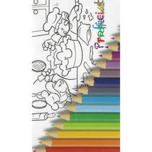 wenskaart proficiat met kleurpotloden