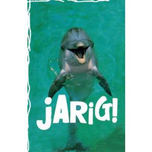 wenskaart jarig met een dolfijn in het water