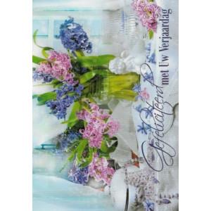 goedkope wenskaarten bestellen gefeliciteerd met uw verjaardag met bloemen