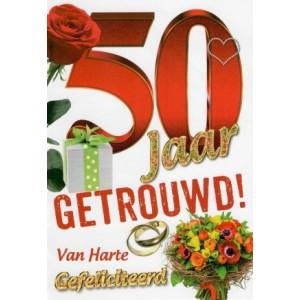Wenskaart 50-jaar getrouwd