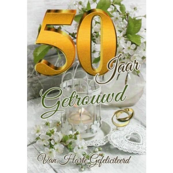 Wenskaart 50 jaar getrouwd