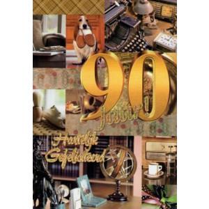 90 jaar hartelijk gefeliciteerd verjaardagskaart