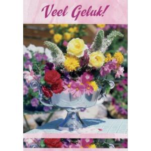 wenskaarten bestellen met tekst veel geluk met bloemen