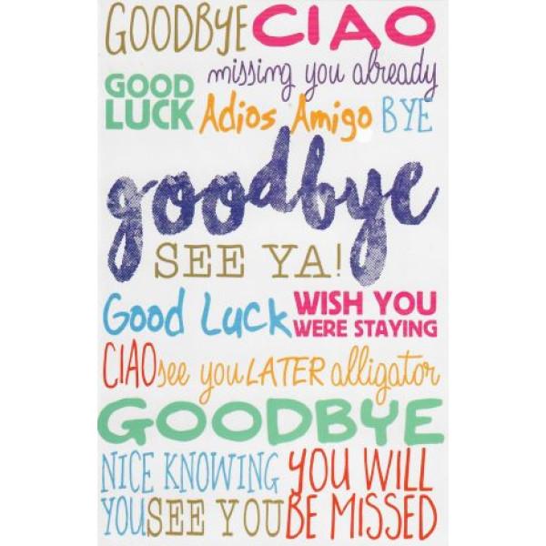 afscheid wenskaart goodbye
