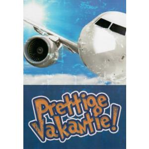 wenskaart prettige vakantie vliegtuig met tekst