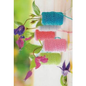 wenskaarten bestellen met foto van bloemen en touw