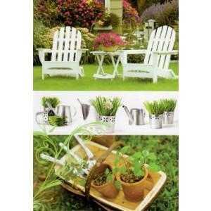 goedkope wenskaarten bestellen met foto van een tuin met twee stoelen