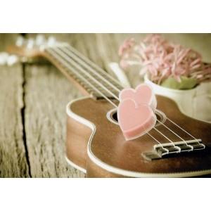 Wenskaart zonder tekst met de afbeelding van een gitaar