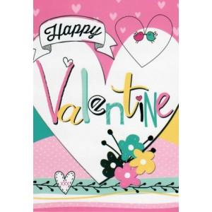 valentijnskaart met de tekst happy valentine