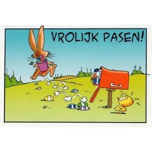 Wenskaart vrolijk Pasen humor