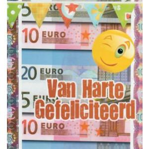 verjaardagskaart met een foto van geld en smily