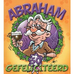 abraham wenskaart man met glas speciaal bier