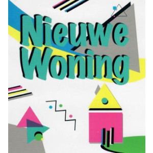 kleurrijke wenskaart modern voor nieuwe woning