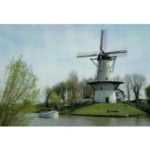 mooie wenskaart met foto van molen