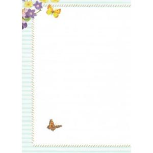 mooie wenskaarten met vlinders en bloemen en een decoratieve rand