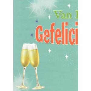 van harte gefeliciteerd wenskaarten met champagneglazen