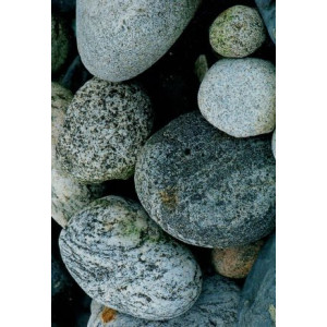 wenskaart met een foto van kiezelstenen en keien