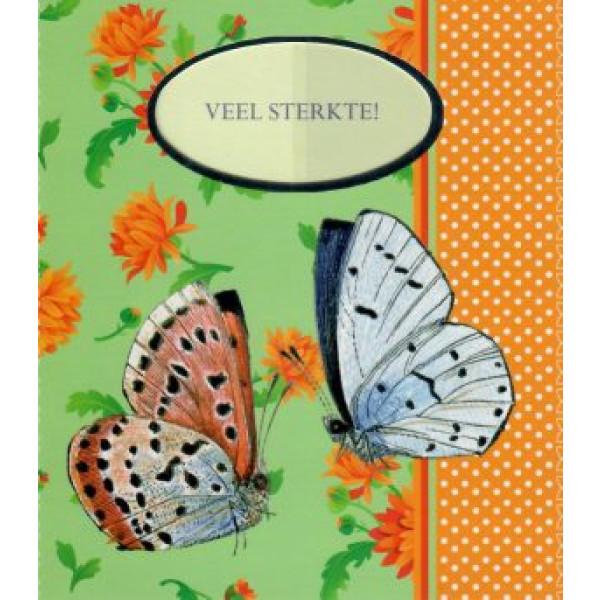 traditionele wenskaart veel sterkte met vlinders