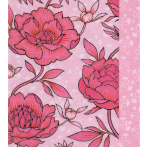 roze wenskaart met bloemen