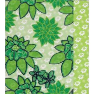 groene wenskaart met getekende bloemen