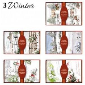 Kerstkaart budget serie Winter