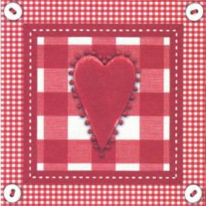 vierkante wenskaarten met rood hard en ruitjesmotief