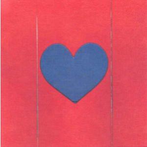 rode wenskaart met blauw hart