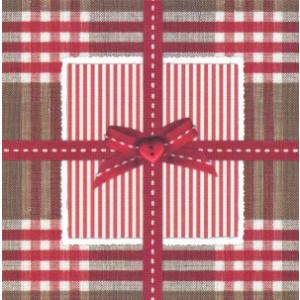 decoratieve wenskaart geruit met rode strik