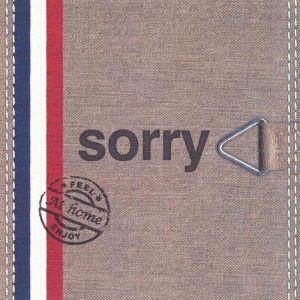 wenskaart at home sorry met rood wit blauw