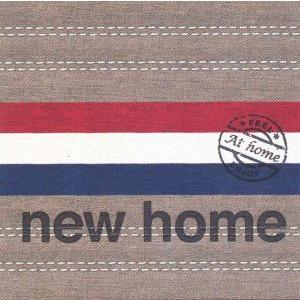 wenskaart at home nieuwe woning rood wit blauw
