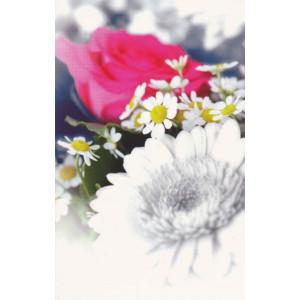 wenskaart met bloemen zoals roos en madelief